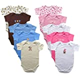 Luvable Friends Bold Colors Hanging Bodysuits, 5 Pack