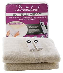 Dreamland Intelliheat Heated Fleecy King Size Dual Mattress Protector
