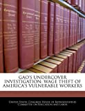 img - for GAO'S UNDERCOVER INVESTIGATION: WAGE THEFT OF AMERICA'S VULNERABLE WORKERS book / textbook / text book