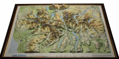 raised relief map Lake District