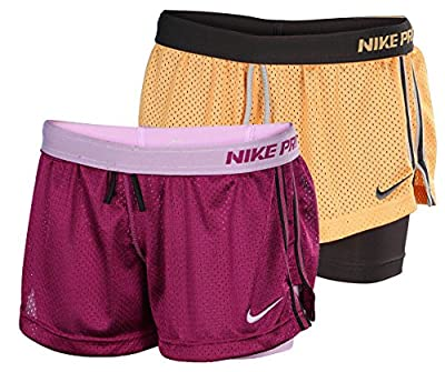 Nike Women's Dri-Fit Double Up 2 In 1 Compression Training Shorts