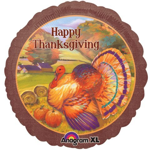 "18"" Festive Thanksgiving Foil Balloon"