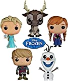Funko POP Disney Frozen Bundle Set of 5 Action Figures- Anna, Elsa, Kristoff, Olaf And Sven