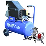 Wolf Cub 24 Litre, 1.5HP, 6.35CFM, 230V, MWP 116psi Air Compressor + 13 Piece Pro Air Tool Kit