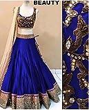 vaankosh fashion women royalblue cotton designer bollywood style lehenga /partywear lehenga/heavy embroidered lehenga