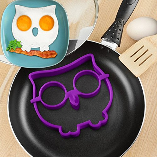 Cute Silicone Owl Egg Fried Shaped Mold Shaper Ring Kitchen Cooking Tool (Jack L Juicer compare prices)