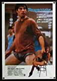 PERFECT Span/US one-sheet movie poster '85 great different image of John Travolta working out, Jamie Lee Curtis