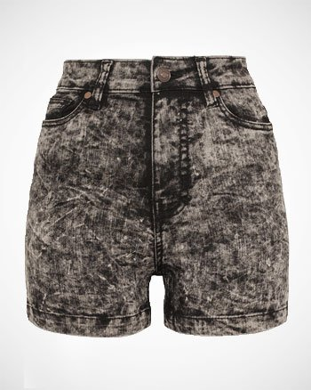 Urban Classics Ladies High Waist Skinny Shorts Hotpants nero 30