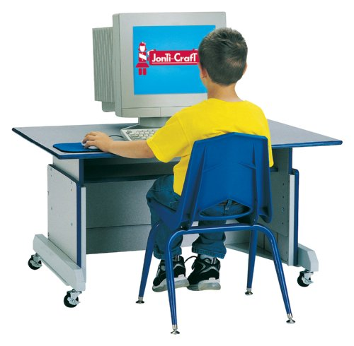 Buy Low Price Comfortable Computer Table – Blue – School & Play Furniture (B002LRSZPM)