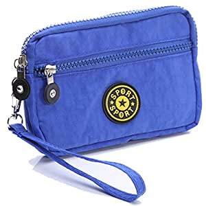 HUANZHAN Sport Nylon Cell Phone / Camera Money Wallet Pouch Mini Wrist Messenger Bag Wristlet Cycling Outdoor Hunting Hiking Pouch Packs for Apple iPhone 7/7Plus,Samsung Galaxy S7 /S7 Edge(Dark Blue)
