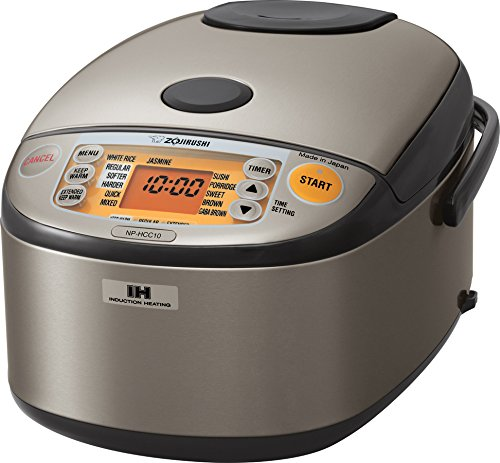 Zojirushi NP-HCC10XH Induction Heating System Rice Cooker and Warmer, 1 L, Stainless Dark Gray (Zojirushi Rice Cooker Hbc10 compare prices)