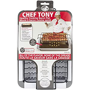 Amazon Com Chef Tony Healthy Cooking Baking Bacon Pan
