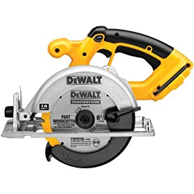 Bare-Tool DEWALT DC390B  6-1/2-Inch 18-Volt Cordless Circular Saw (Tool Only, No Battery)