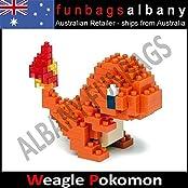 Charmander Hitokage Pokemon Weagle Mini Building Blocks Micro Nano Loz Block /Item# G4 W8 B 48 Q24604
