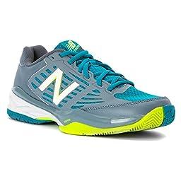 New Balance Women\'s WC896V1 Stability Tennis Shoe, Grey/Blue, 10 B US