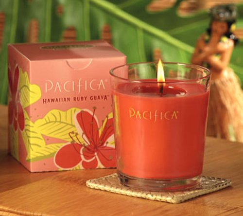 Pacifica Hawaiian Ruby Guava 10.5 Oz Soy Boxed Glass Candle