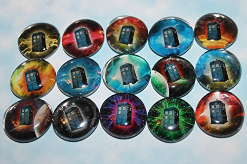 Glass Stone Refrigerator Magnets - Bbc Doctor Who Tardis In Space (Without Logo) front-407771