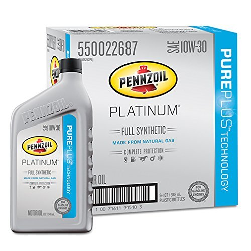 pennzoil-550022687-6pk-platinum-10w-30-full-synthetic-motor-oil-1-quart-pack-of-6-by-pennzoil