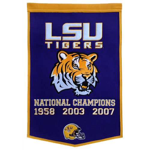 LSU Tigers NCAA Dynasty'' Banner 24''x36'' LSU