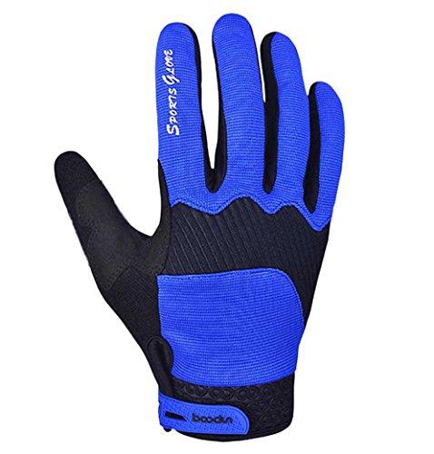 Panegy Unisex Adult Skiing Glove Full Finger Warm Mitten Deep Blue M