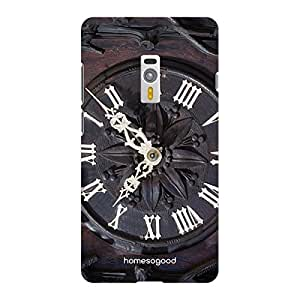 HomeSoGood Vintage Wall Clock Multicolor 3D Mobile Case For OnePlus 2 (Back Cover)