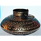 ADA Metal Tealight Candle Holder (22.5 Cm X 22.5 Cm X 14 Cm)/ ADA Lantern Shaped Candle/Diya Holder Tea Lights...