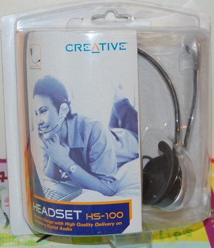 Creative Headset Hs-100 With Flexible Boom Microphone Use With Any Sound Blaster Sound Card