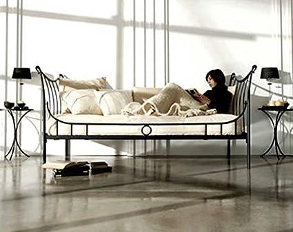 Cama-Divan de forja Mod. NURIA de 222X100X95cms.