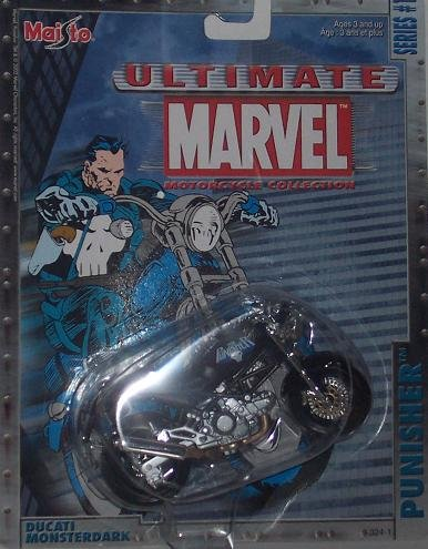 Maisto Ultimate Marvel Motorcycle - Punisher Ducati Monsterdark Diecast Motorcycle - 1