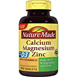 Nature Made Calcium Magnesium Zinc, with Vitamin D, Tablets, Value Size, 300 tablets