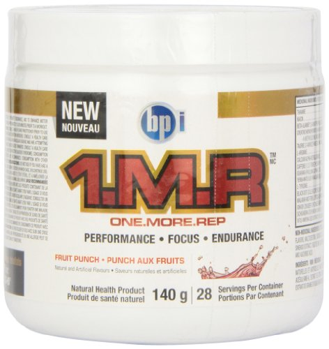BPI  1.M.R Original Pre-Workout Formula, Fruit Punch, 4.9-Ounce
