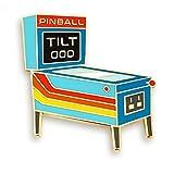 Pinsanity Retro Pinball Arcade Enamel Lapel Pin