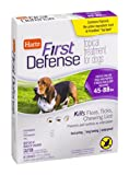 Hartz First Defense Topical Treatment for Dogs 45, 1 CT (Pack of 4)