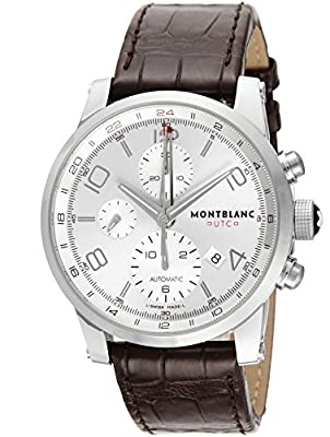 [Mont Blanc] MONTBLANC watch TIME WALKER UTC silver dial automatic winding alligator leather 107065 Men's parallel import goods]