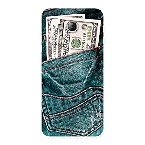 Special Full Dollar Jeans Back Case Cover for Galaxy A8