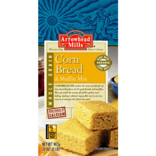 Corn Bread and Muffin Mix Arrowhead Mills 32 Ounce Unit