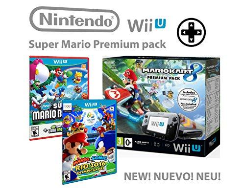 Nintendo Wii U Premium Pack 32GB +Mario & Sonic ai Giochi Olimpici di Rio 2016 + Splatoon + Super Mario & Luigi U - Super Mario pack 4 giochi !