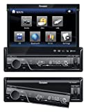 Fahrenheit TID-893 In Dash Source Unit DVD Player Single DIN with 7 - Inch Touchscreen Flip Out Monitor