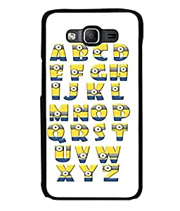 printtech Aplphabets Minions Back Case Cover for Samsung Galaxy On5