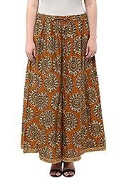 Alto Moda by Pantaloons Women's Comfort Fit Palazzo (205000005659556, Yellow, X-Large)