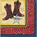 Cowboy Beverage Napkins Birthday Party Supplies 25 Per Package