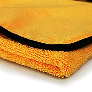 "Real Clean - Professional Grade Premium Microfiber Towels Chemical and Water Safe Material, Gold 16"" x 16"" (Pack of 6)"