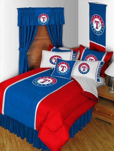 Mlb Texas Rangers Baseball Set Of 2 Logo Pillow Cases front-879466