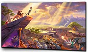 "Plush Prints Disney Lion King Simba - Canvas Print - Dominant Colour: As Shown In Picture - Canvas Size: 20"" X32"""