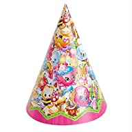 Unique Shopkins Party Hats (8 Count)