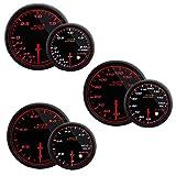オートゲージ AUTOGAUGE ブースト計 油圧計 油温計 3点セットC 3連メーター 458シリーズ 52mm 52Φ スモークレンズ