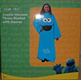 Sesame Street KID'S Size Cookie Monster BLANKET w/Sleeves