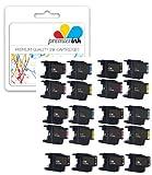 Premier Ink 24 Compatible Ink Cartridges To Brother Lc1220 Lc1240 / 6X Lc1240Bk + 6X Lc1240C + 6X Lc1240M + 6X Lc1240Y For Brother Mfc-J280W Mfc-J6910Dw, Mfc-J425W, Mfc-J430W, Mfc-J435W, Mfc-J625Dw, Mfc-J6510Dw, Mfc-J6710Dw, Mfc-J835Dw, Mfc-J825Dw, Mfc-J