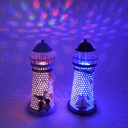 De Spark 7 5 39 39 High Color Changing Led Lantern Night Light Metal Vintage Openwork Ocean