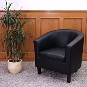 fauteuil crapaud lounge m66 simili cuir noir. Black Bedroom Furniture Sets. Home Design Ideas